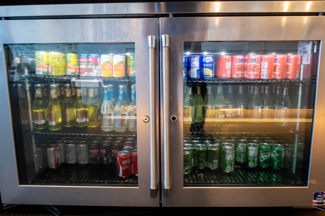 Soft Drinks in American Airlines Flagship Lounge at JFK