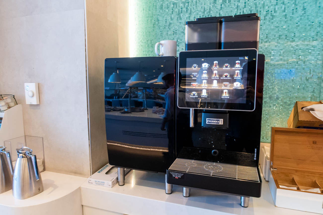 Coffee in American Airlines Flagship Lounge at JFK