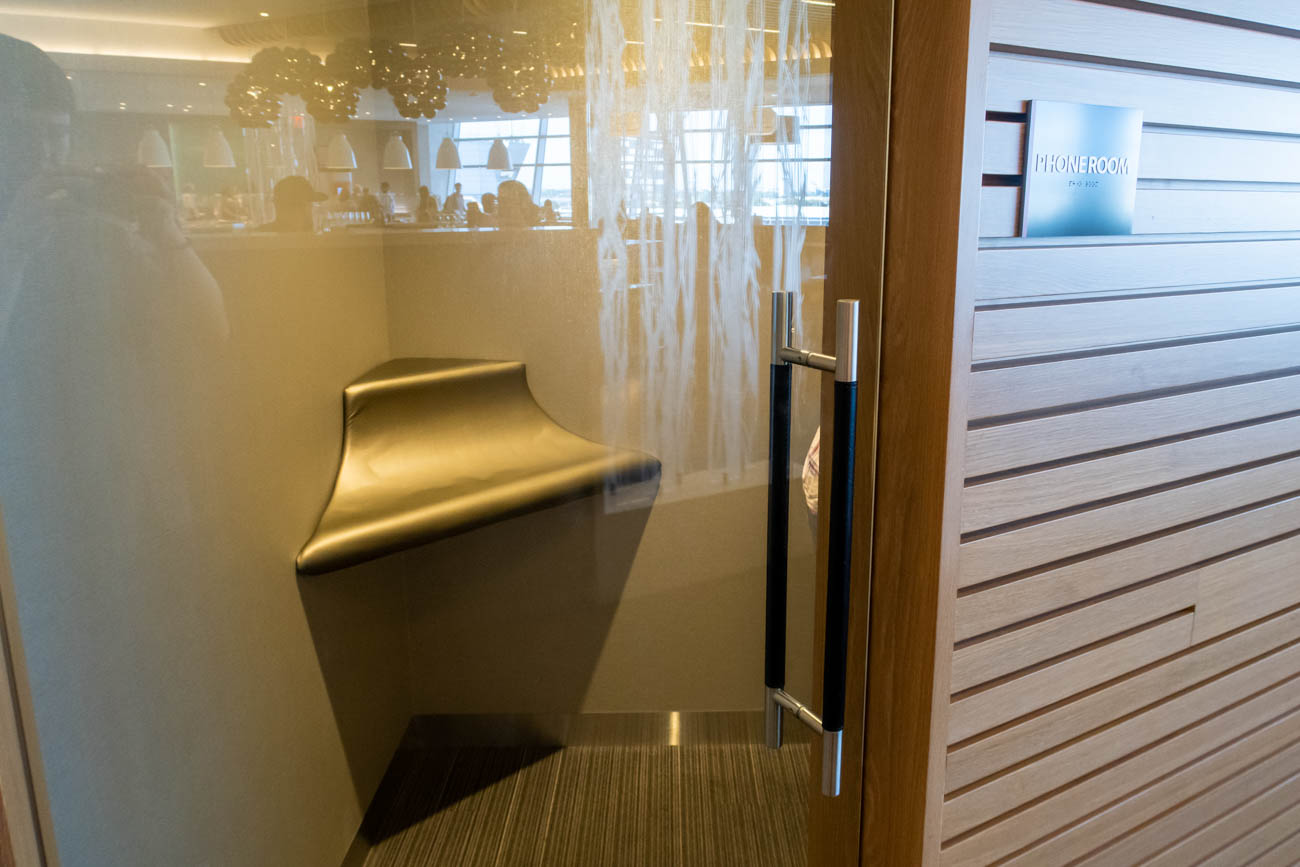 Phone Room at American Airlines Flagship Lounge at JFK