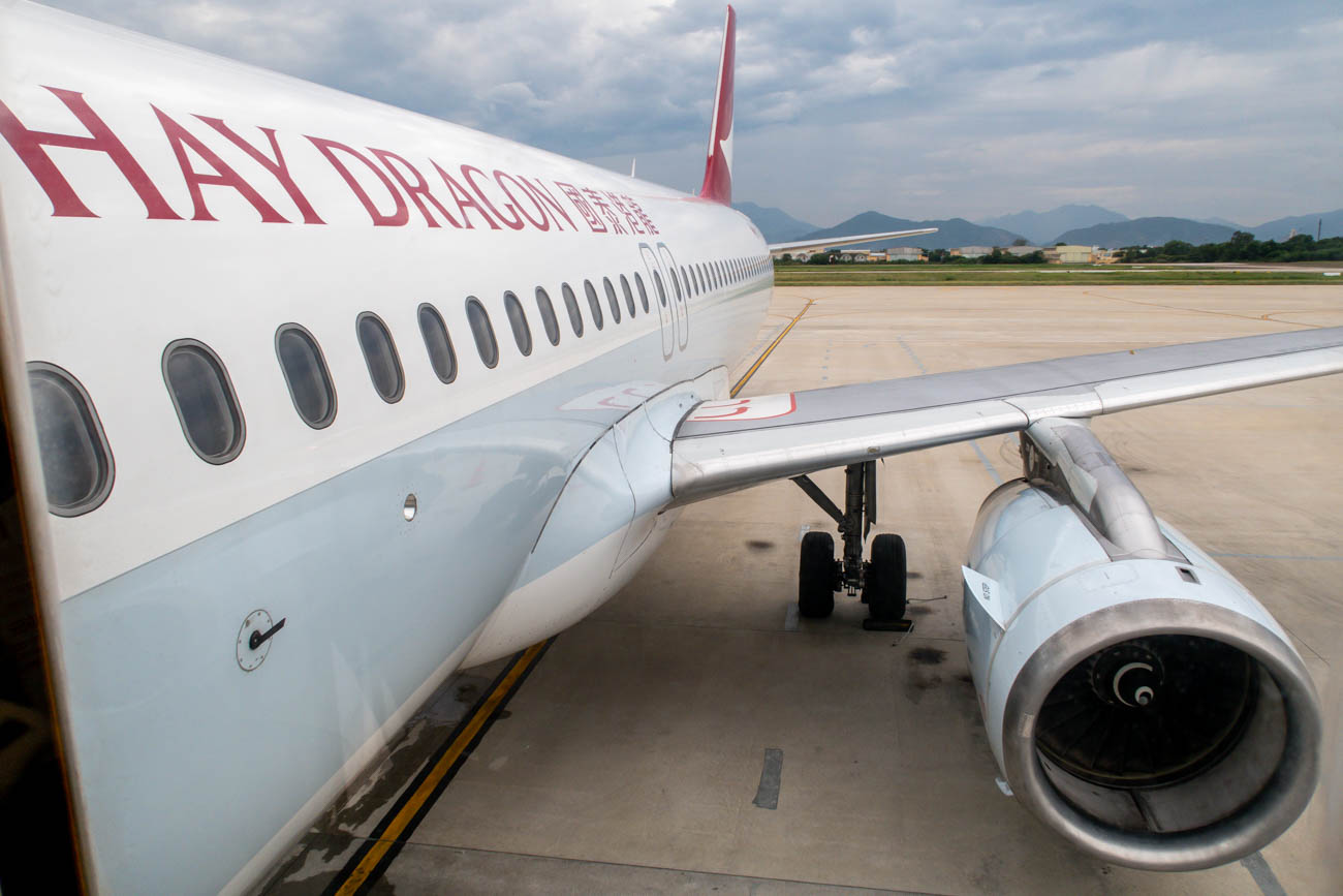 Boarding Cathay Dragon A320
