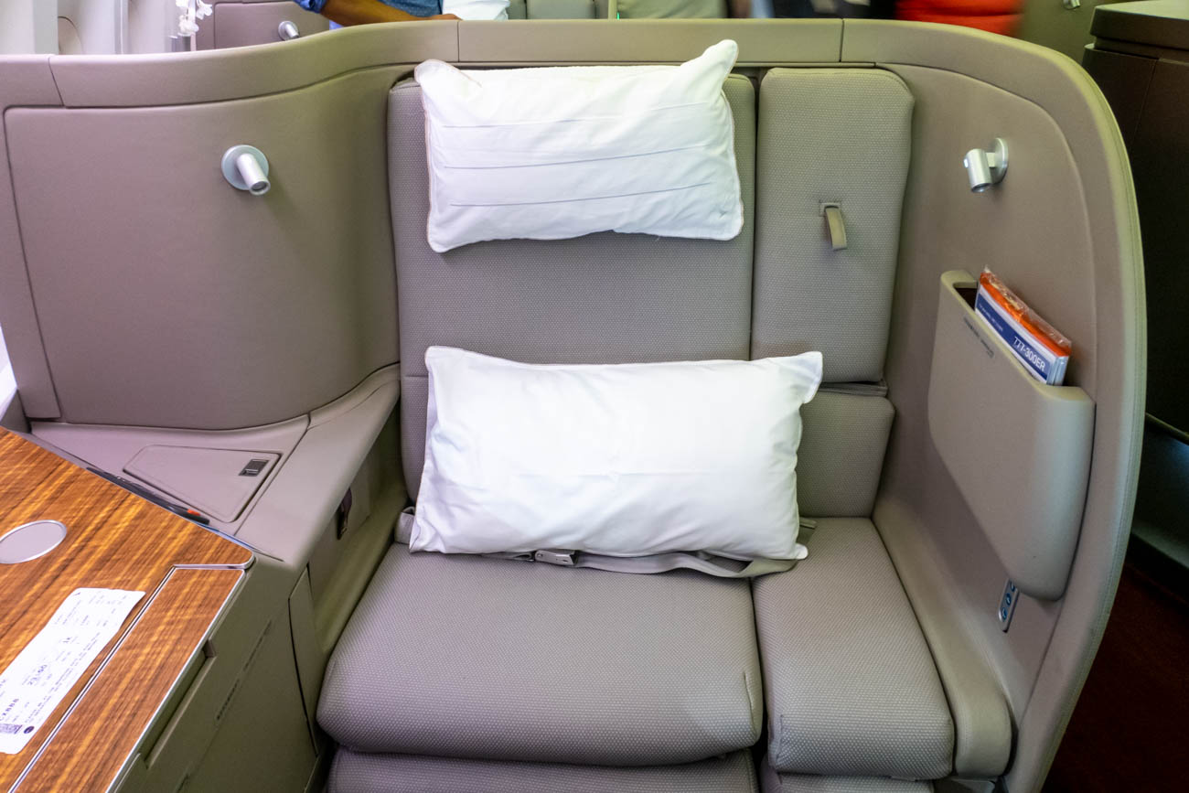 Cathay Pacific 777-300ER First Class Seat