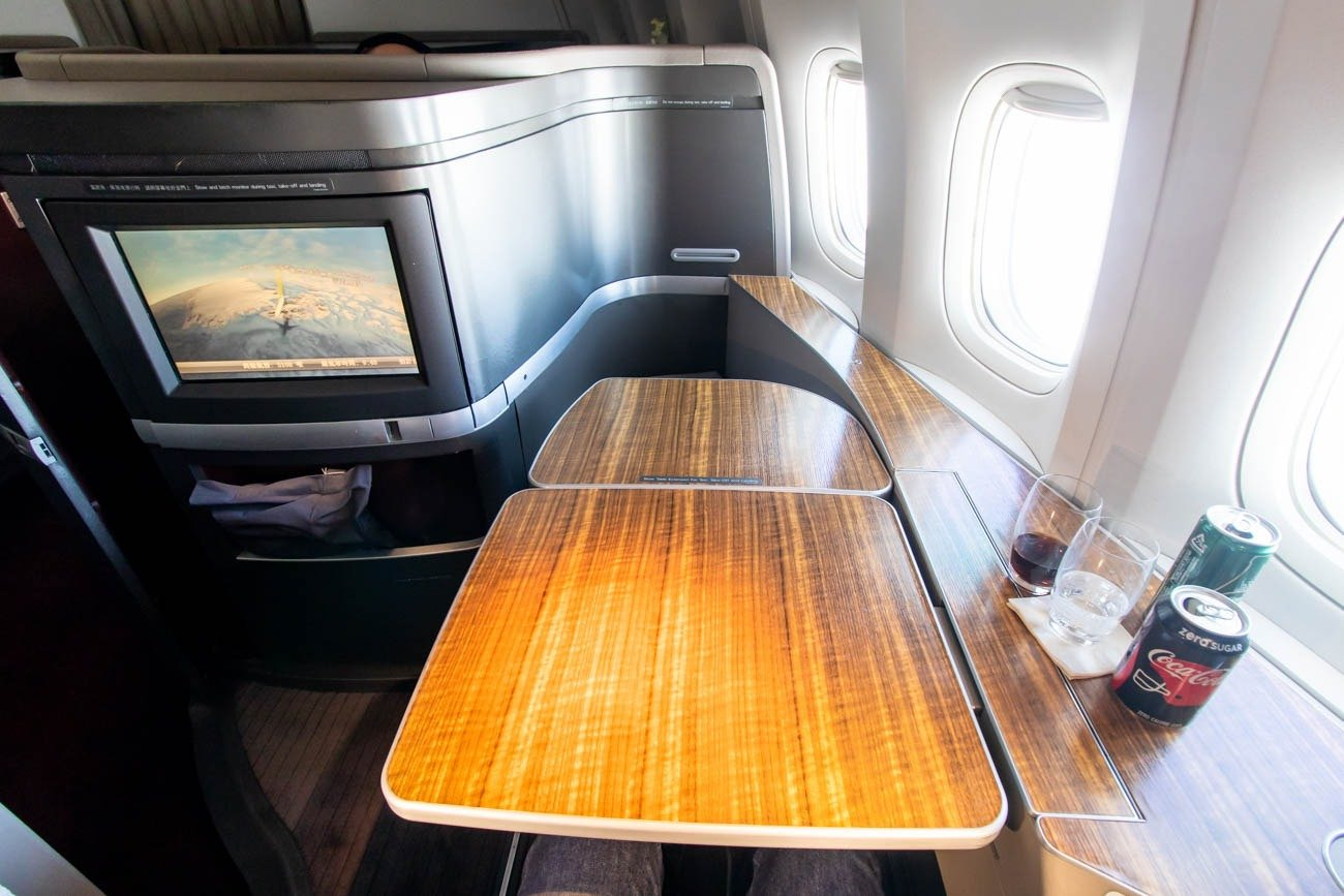Cathay Pacific First Class Table for Two