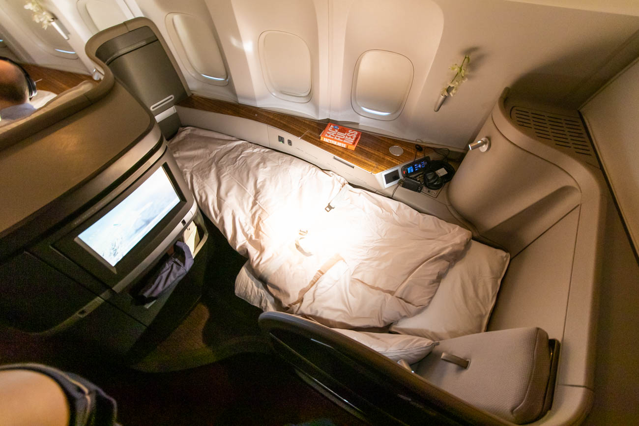 Cathay Pacific First Class Bed