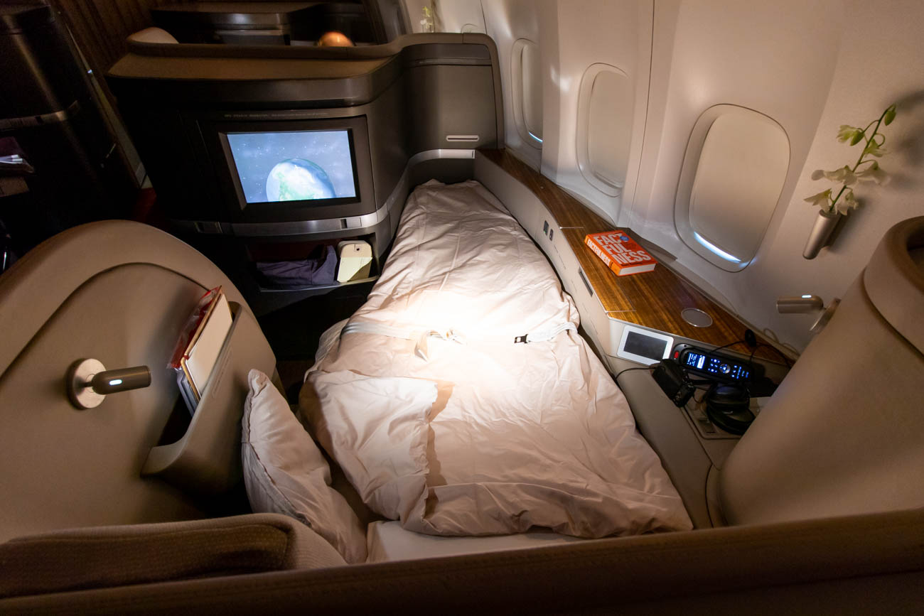 Cathay Pacific First Class Turndown Service