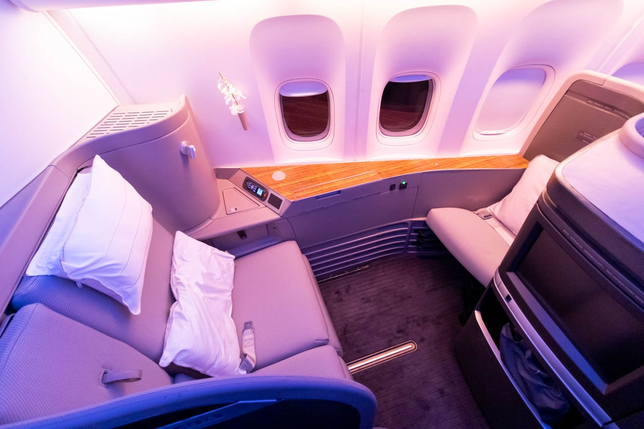 Cathay Pacific 777-300ER First Class Seat from Vancouver to New