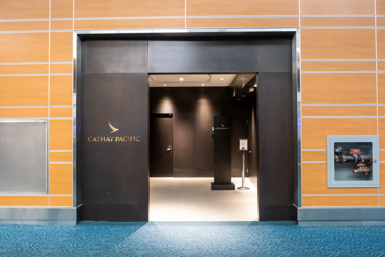 Cathay Pacific Lounge Vancouver Entrance
