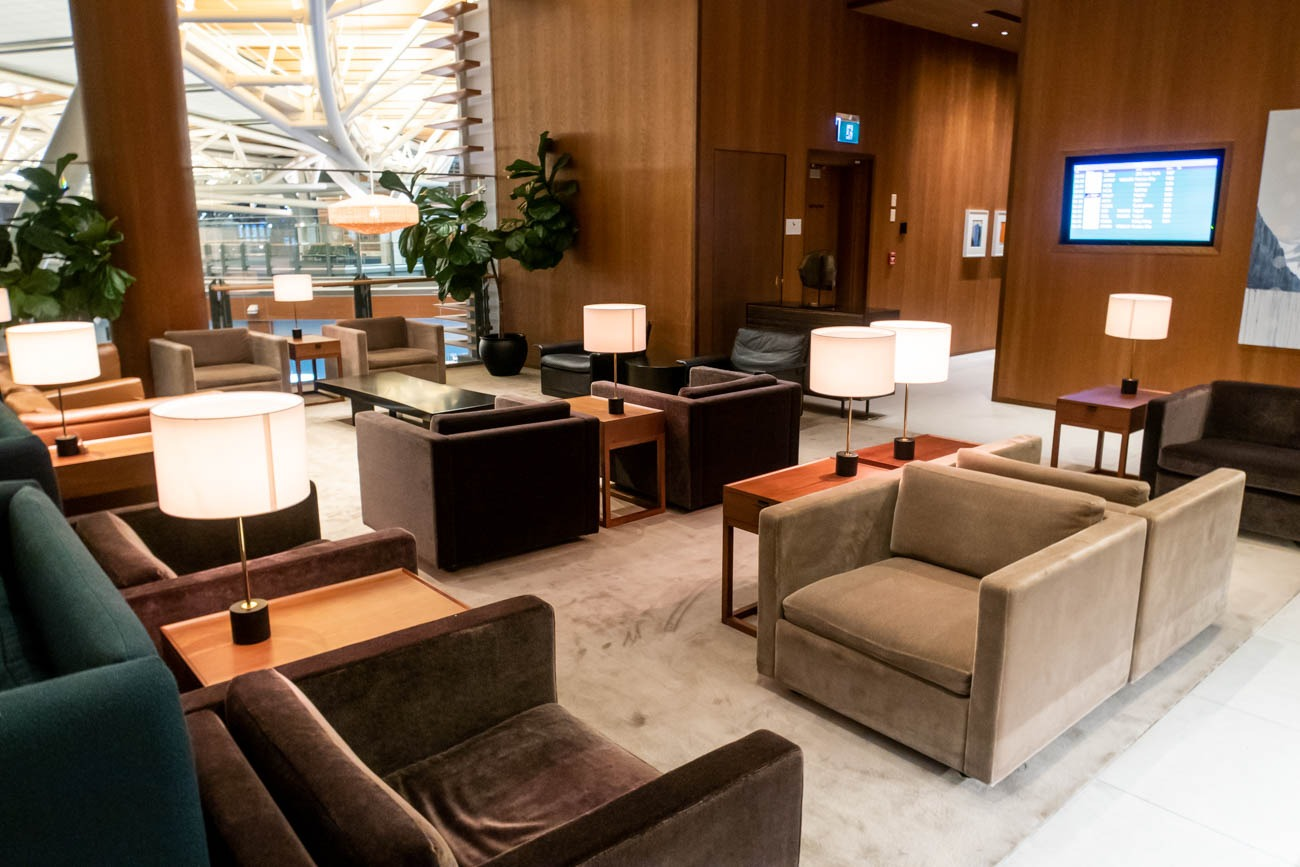 Cathay Pacific Lounge Vancouver Seating
