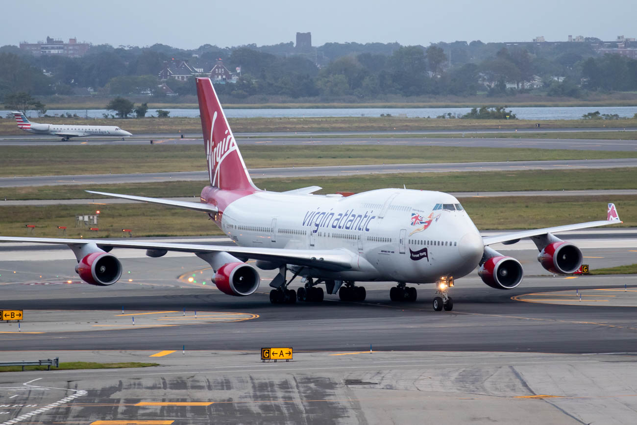 Virgin Atlantic 747-400 at New York JFK
