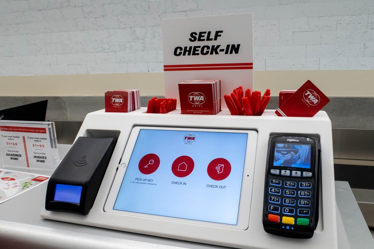 TWA Hotel Self Check-in