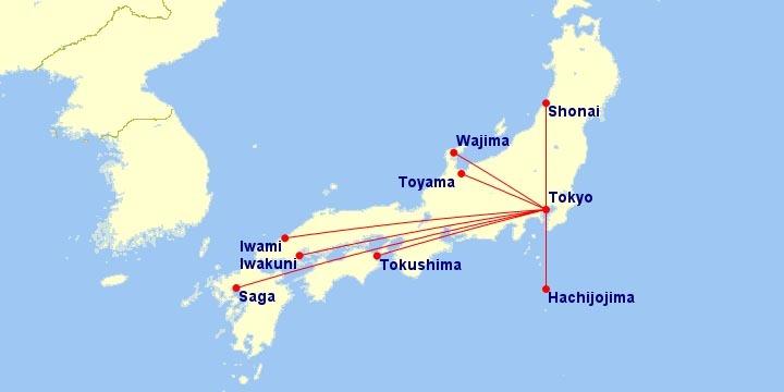 ANA 180-Seat A320 Routes