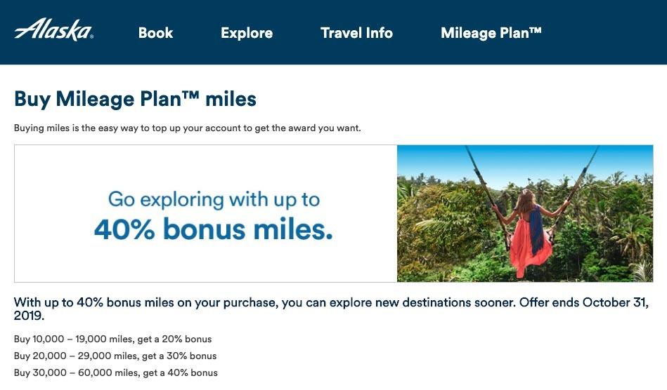 Buy Alaska Miles on Sale
