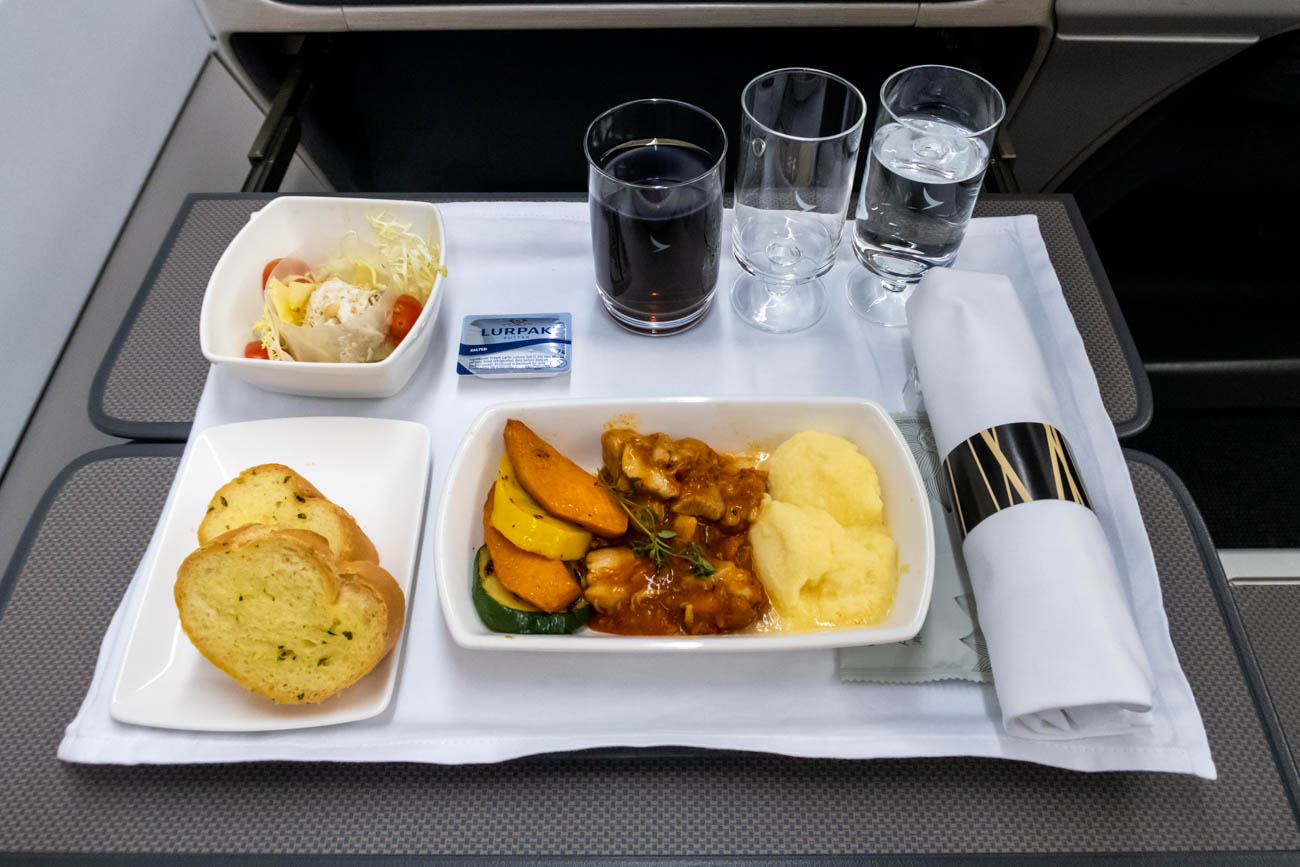 Cathay Dragon Business Class Dinner