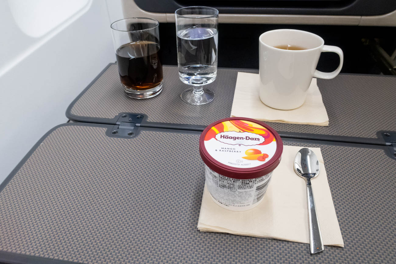 Cathay Dragon Business Class Dessert