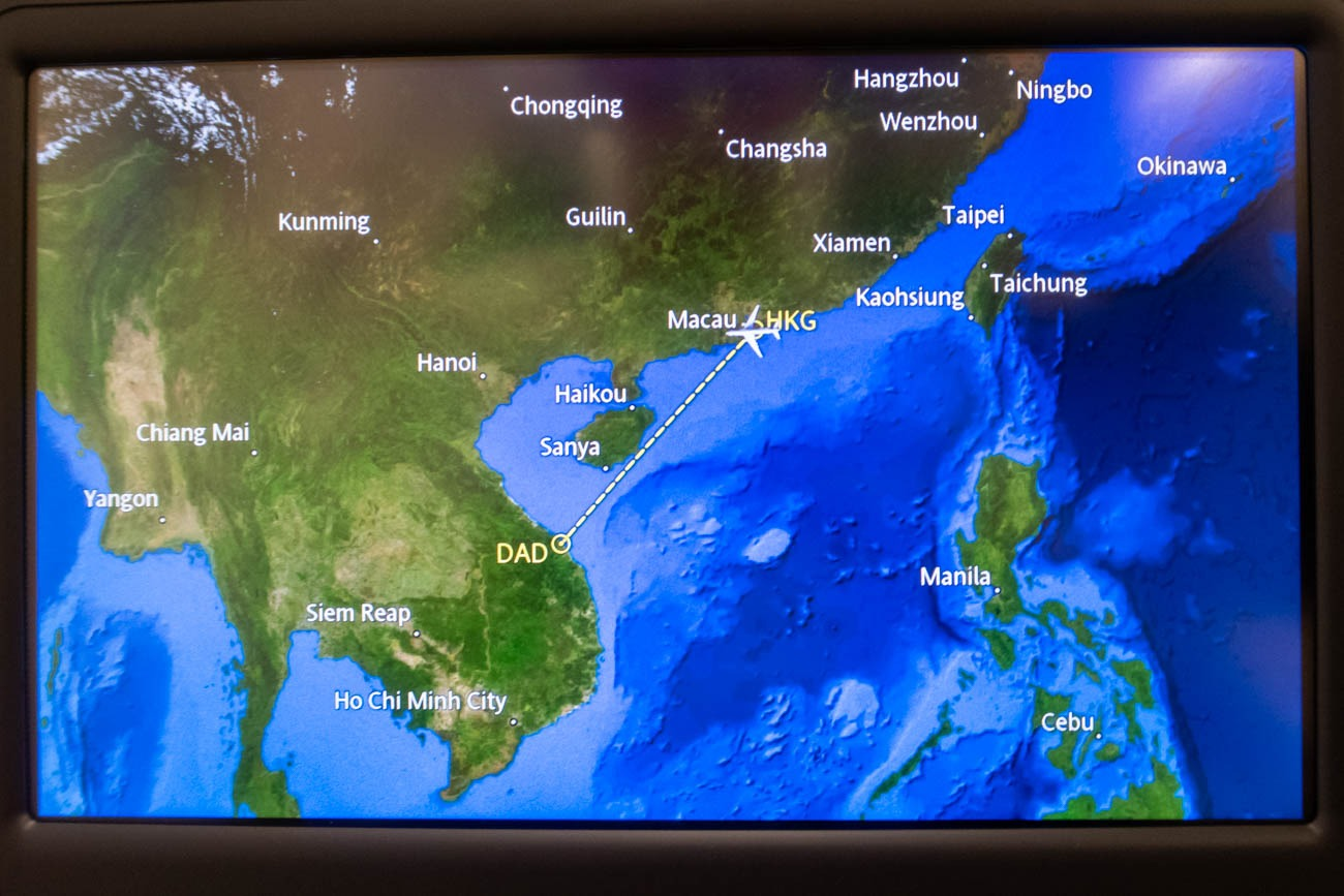 Cathay Dragon In-Flight Entertainment Map