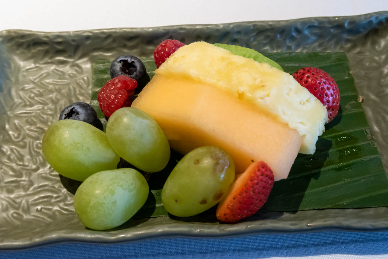 Cathay Pacific The Pier First Lounge Fruit Plate