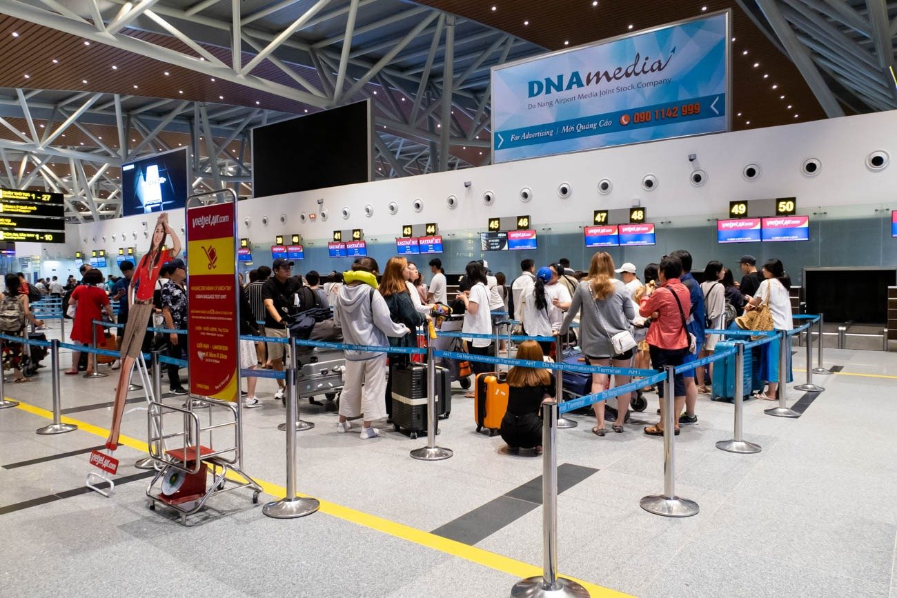 VietJet Check-in Area at Da Nang