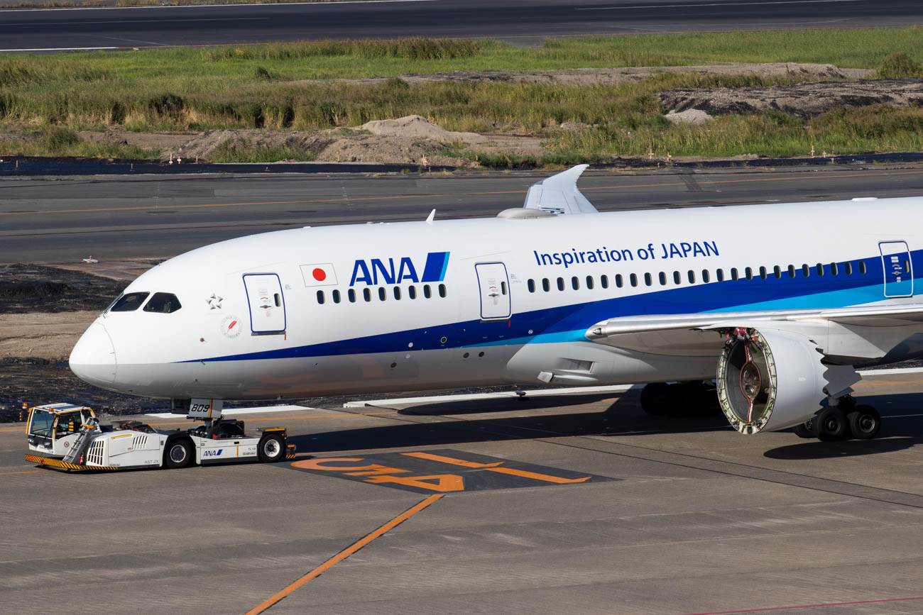 ANA 787 Without Engine