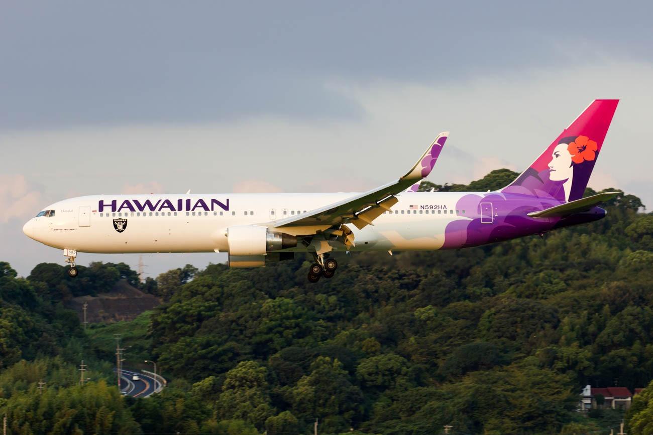 Hawaii Airlines 767-300 at Fukuoka
