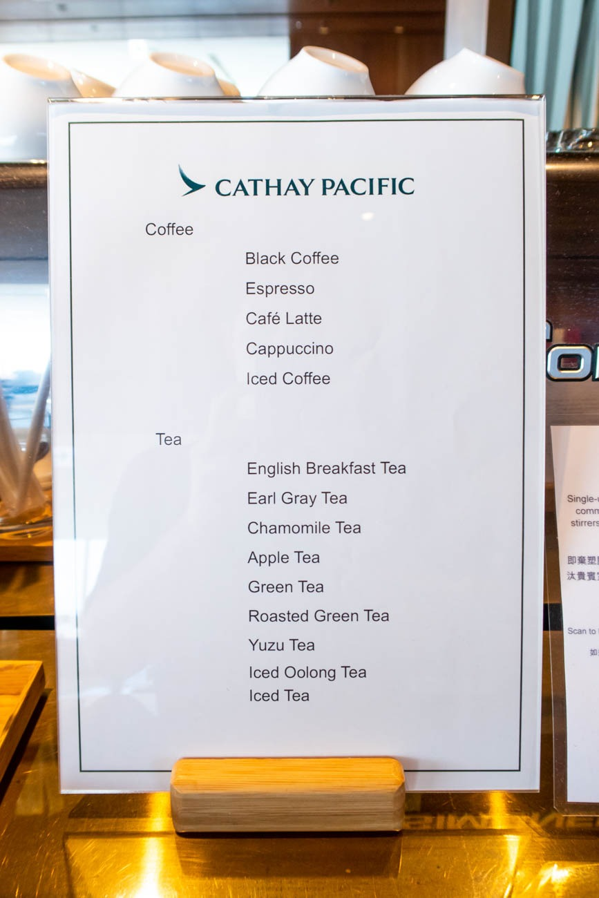 Cathay Pacific Lounge Tokyo Haneda Tea and Coffee