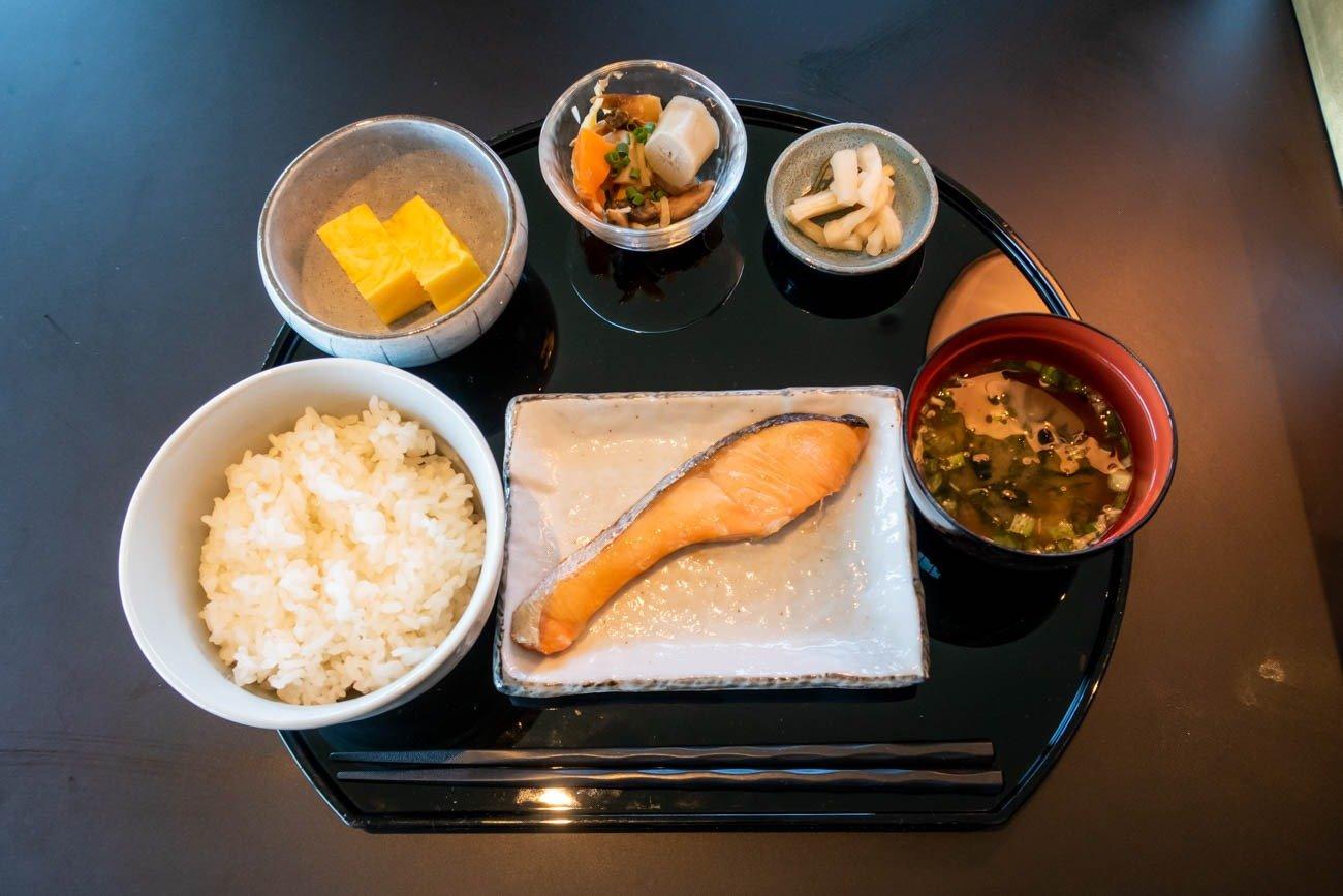 Cathay Pacific Lounge Tokyo Haneda Japanese Breakfast