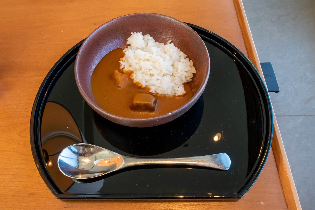 Cathay Pacific Lounge Tokyo Haneda Curry Rice