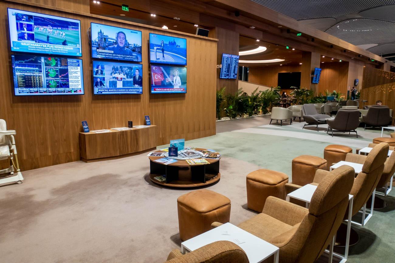 IGA Lounge Istanbul TV Area