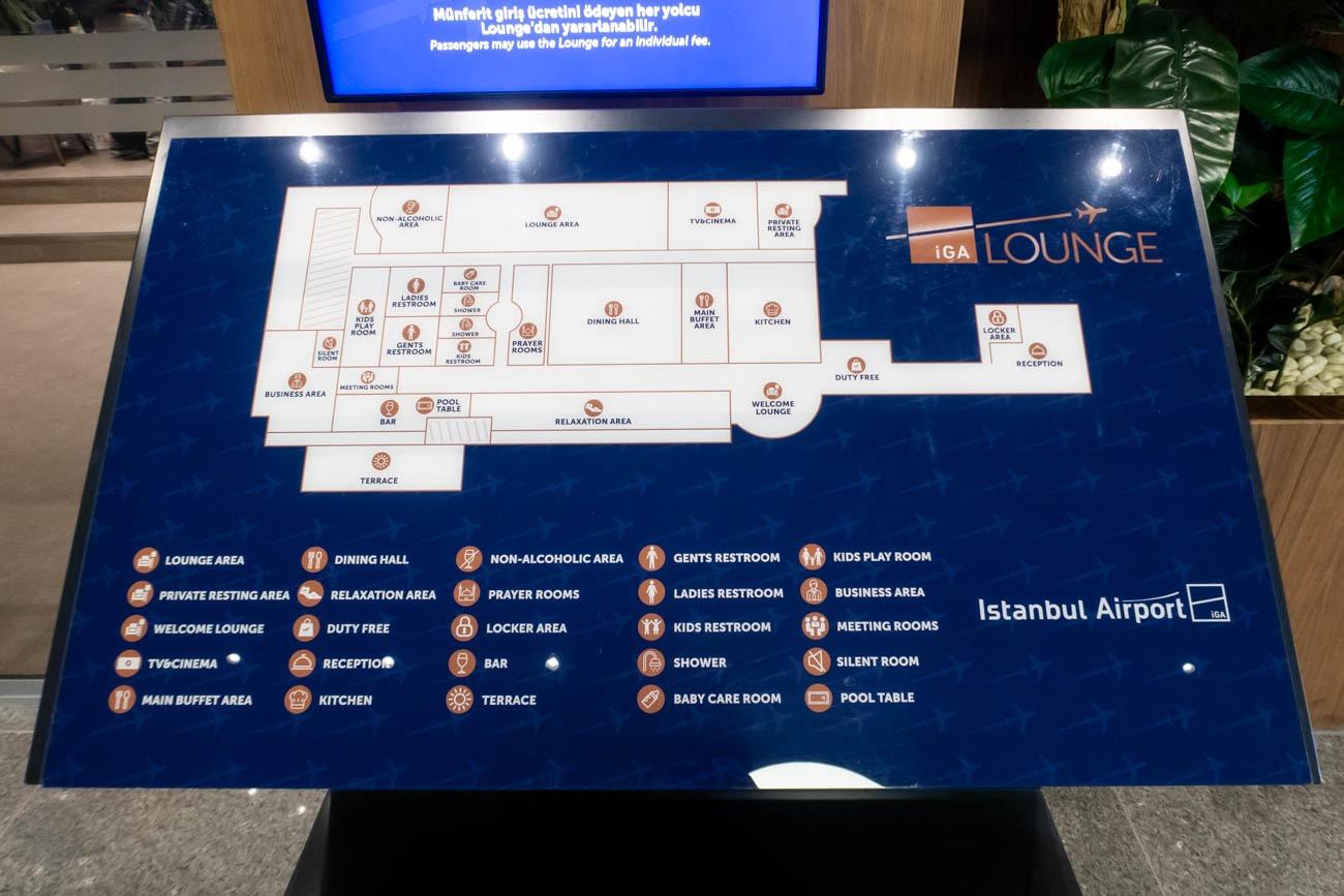 IGA Lounge Istanbul Map