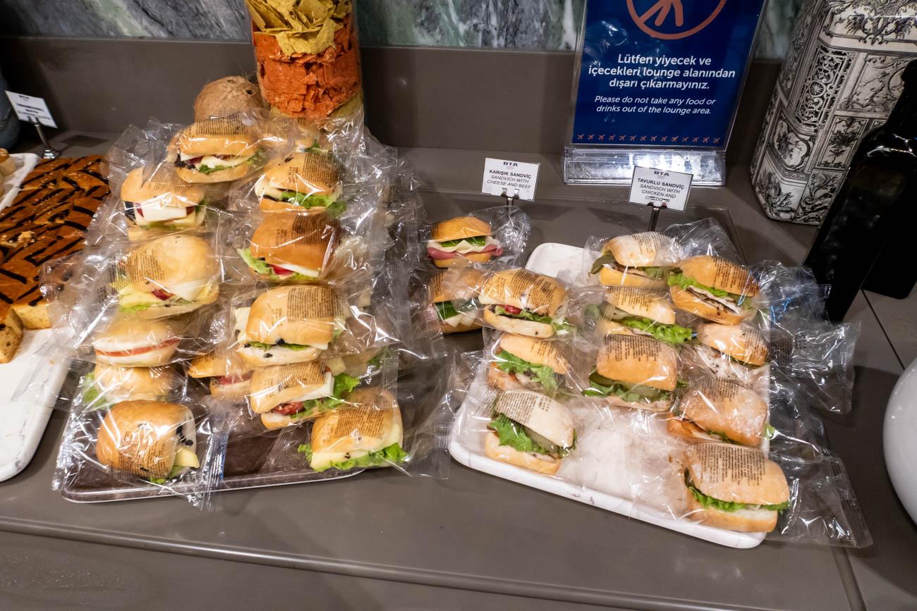 IGA Lounge Istanbul Sandwiches