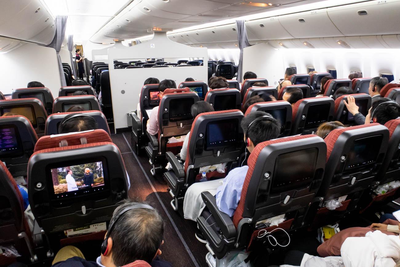 JAL 777-200ER Economy Class