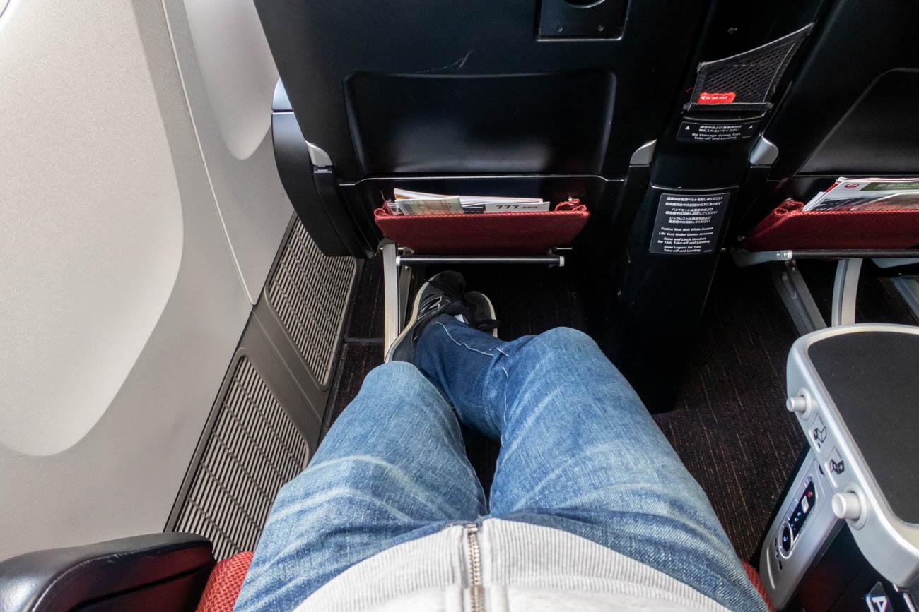 JAL 777-200ER Premium Economy Leg Room