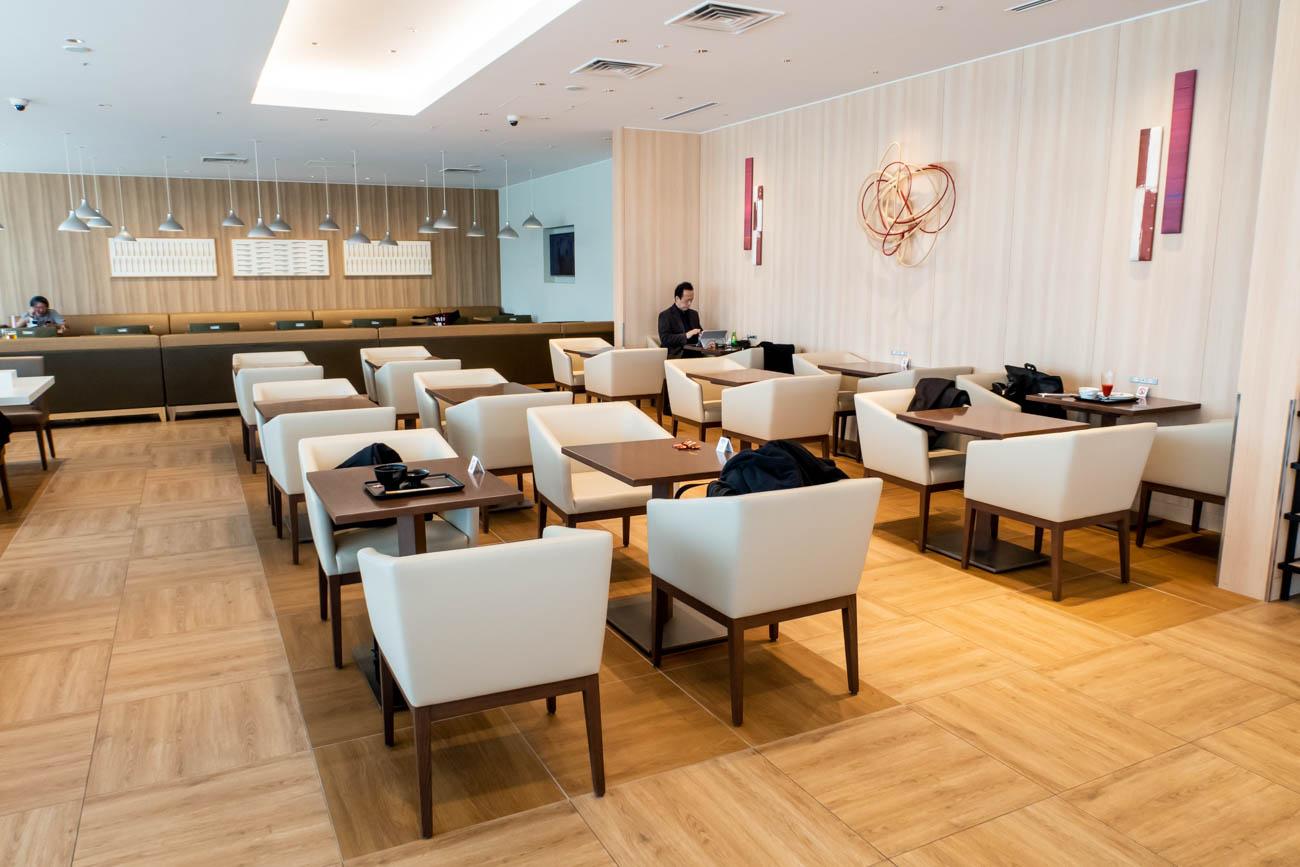 JAL Sakura Lounge Skyview Dining Area
