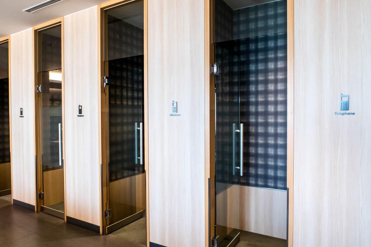 JAL Sakura Lounge Skyview Phone Booths