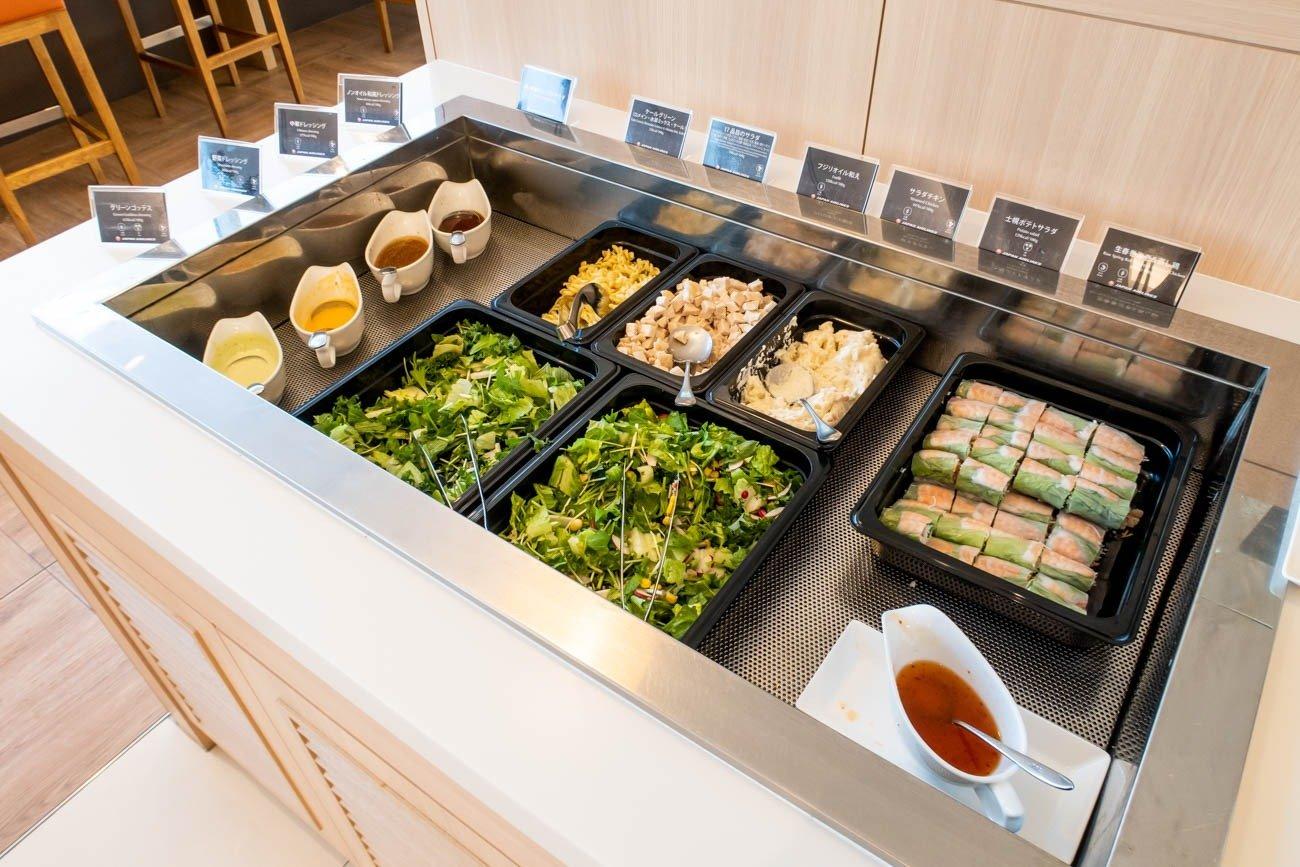 JAL Sakura Lounge Skyview Salad