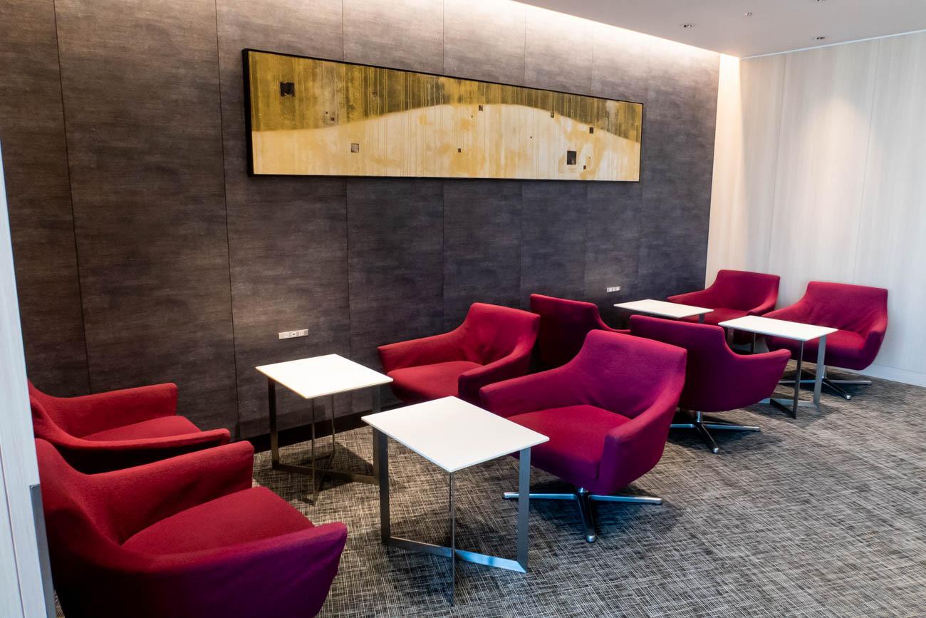 JAL Sakura Lounge Skyview Seating Area