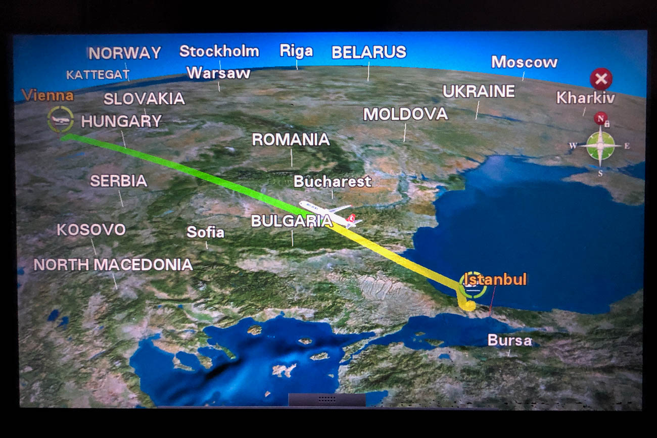 Turkish Airlines A321 In-Flight Map
