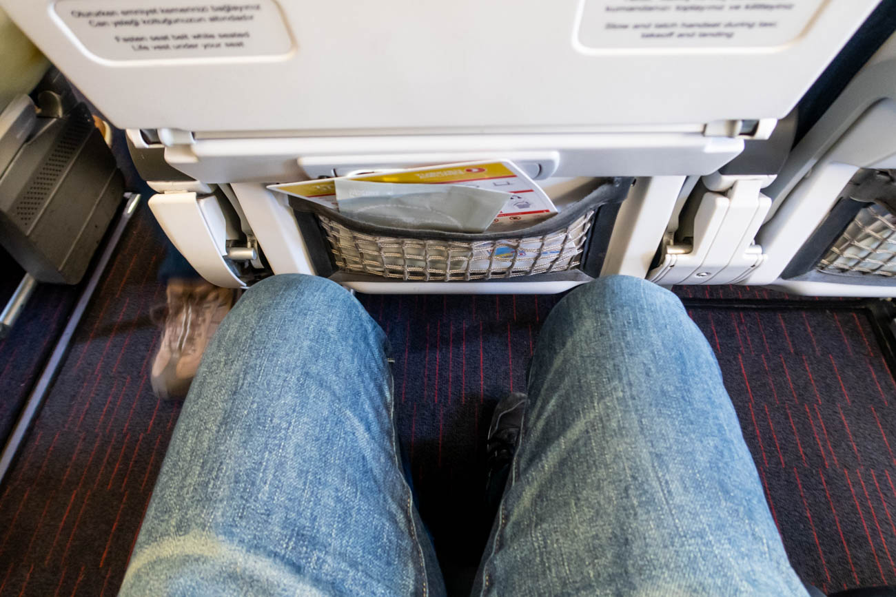 Turkish Airlines A321 Economy Class Legroom