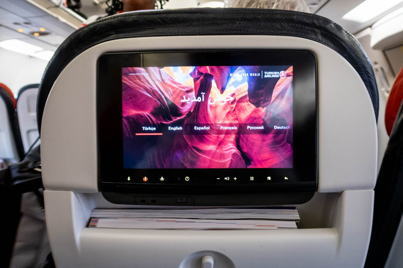 Turkish Airlines A321 In-Flight Entertainment