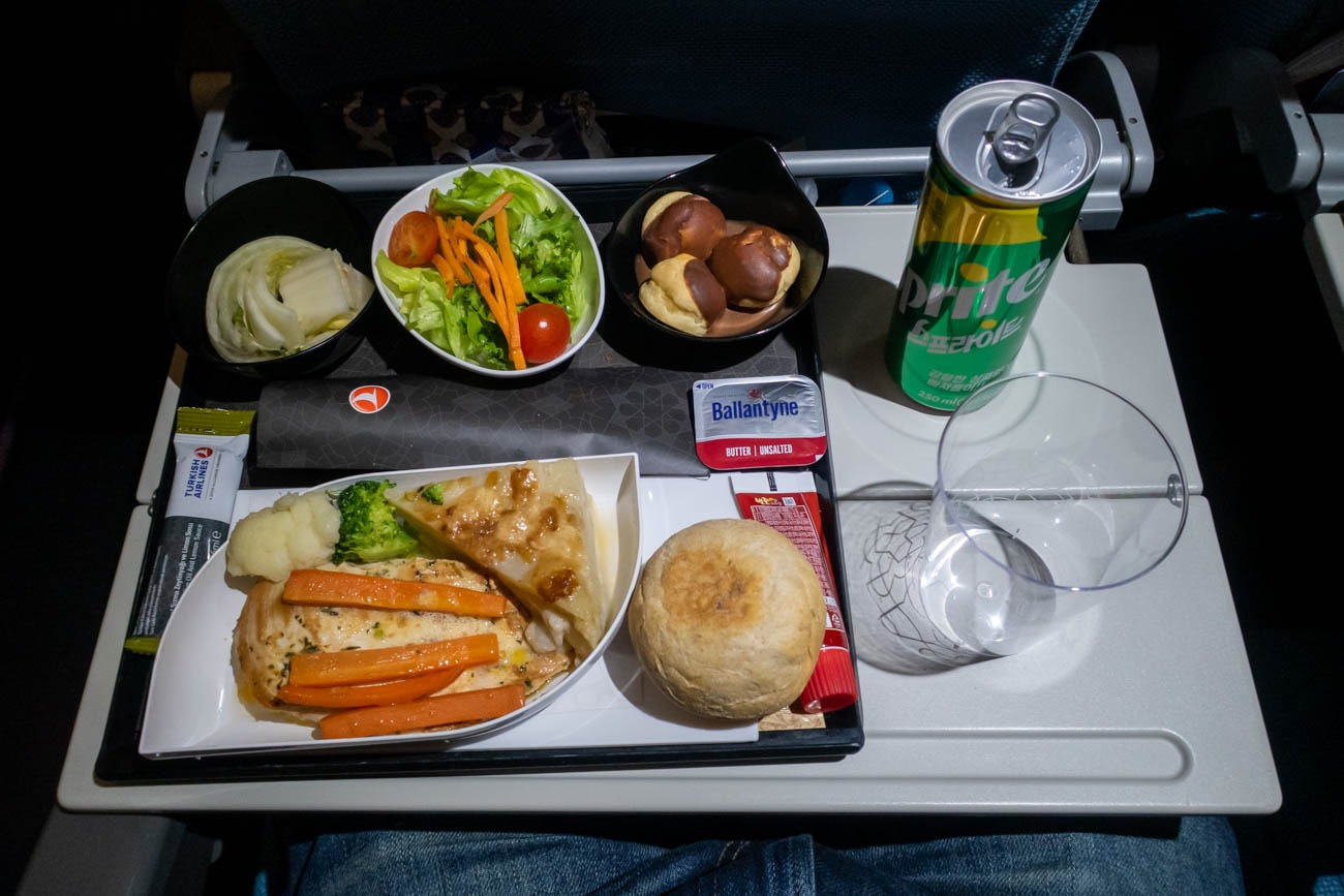 Turkish Airlines Long-Haul Economy Class Dinner