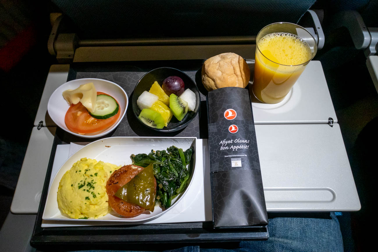 Turkish Airlines Long-Haul Economy Class Breakfast
