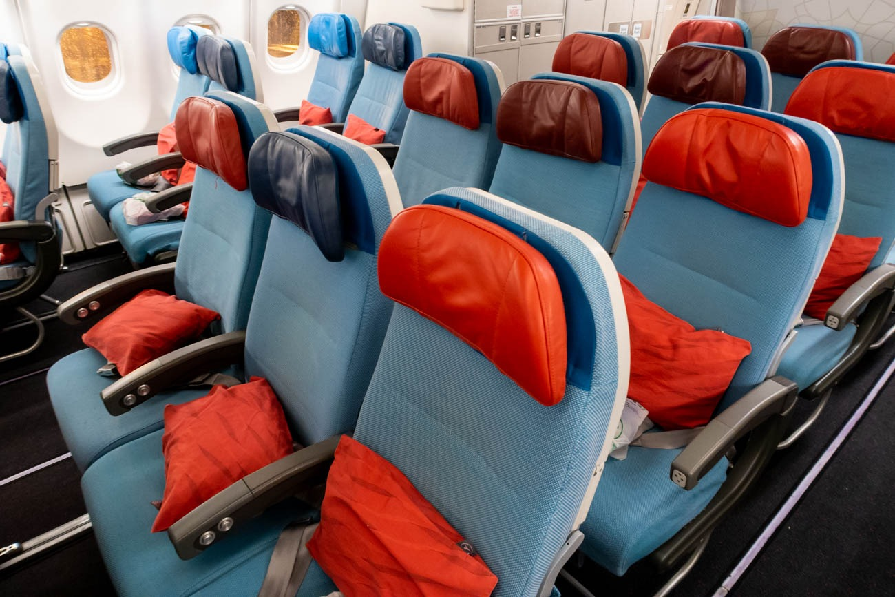 Turkish Airlines A330-300 Economy Class Cabin