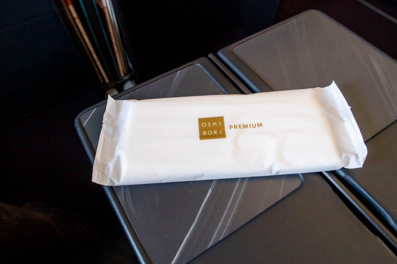 JAL A350 First Class Wet Towel