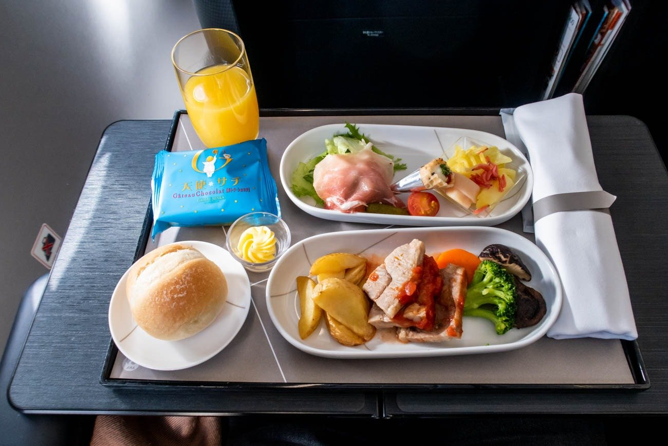 JAL A350 First Class Lunch