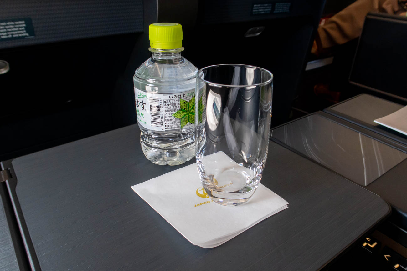 JAL A350 First Class Water