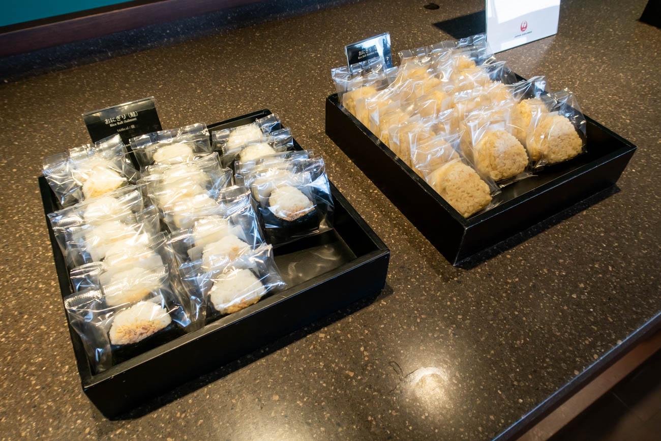 JAL Diamond Premier Lounge Haneda Rice Balls