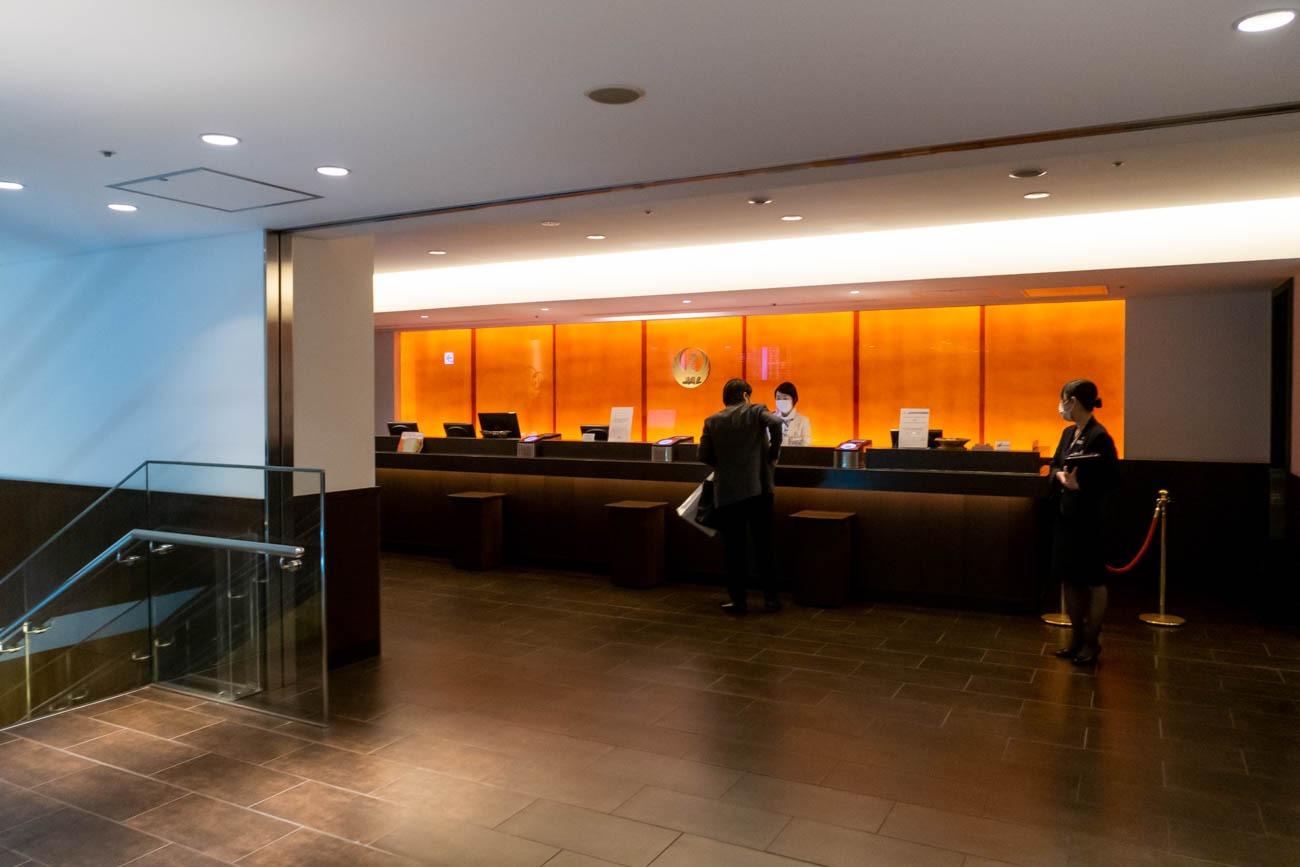 JAL Diamond Premier Lounge Haneda Reception