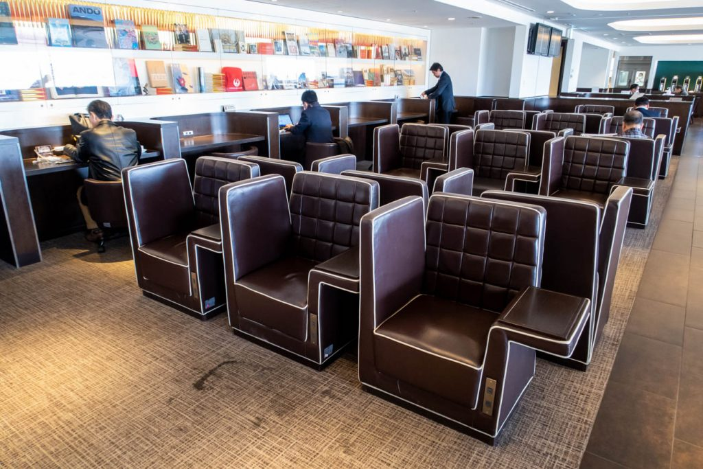 JAL Diamond Premier Lounge Haneda Seating
