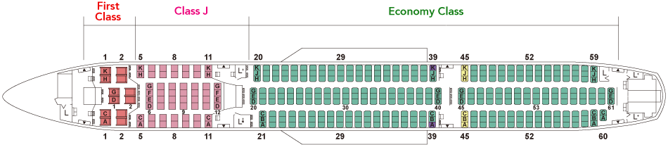 JAL A350 Seat Map