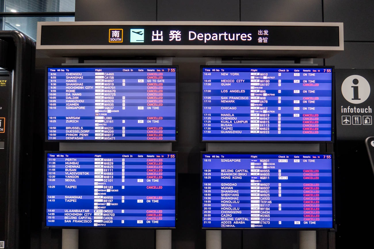 Narita COVID-19 Flight Cancellations