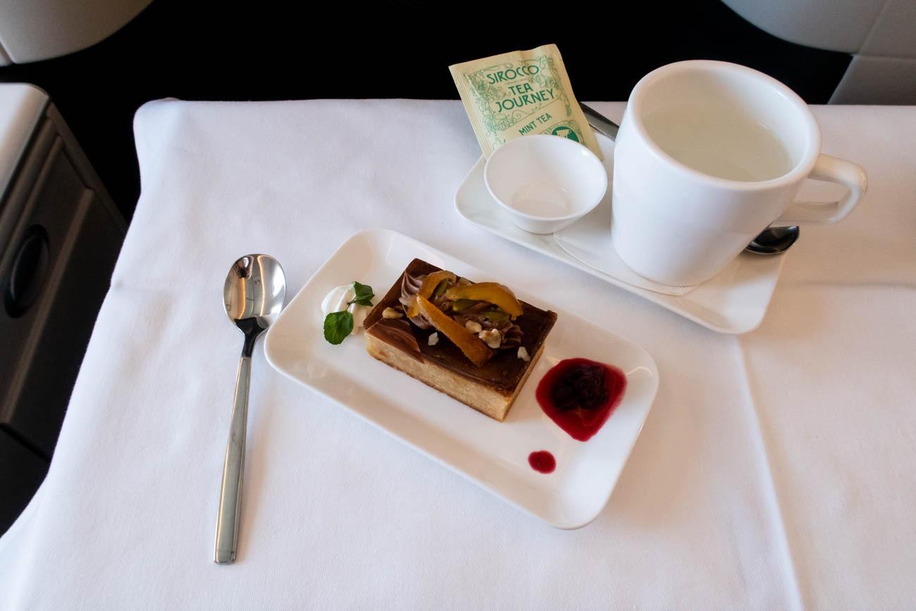 Swiss Business Class Lunch Dessert