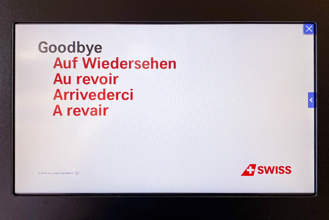 Swiss Goodbye Message